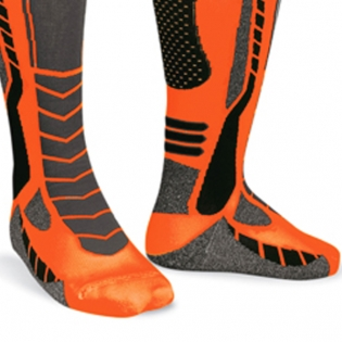 Acerbis X-Leg Pro Knee Brace Socks - Black Orange Image 4