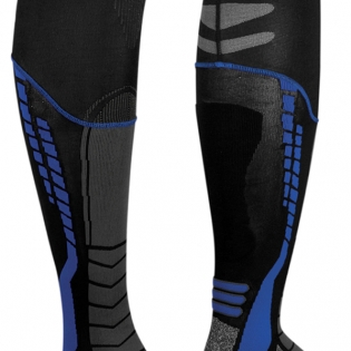 Acerbis X-Leg Pro Knee Brace Socks - Black Blue Image 3