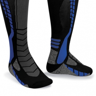 Acerbis X-Leg Pro Knee Brace Socks - Black Blue Image 4