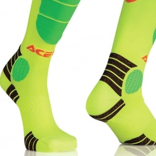 Acerbis Impact Motocross Socks - Orange Yellow Image 3