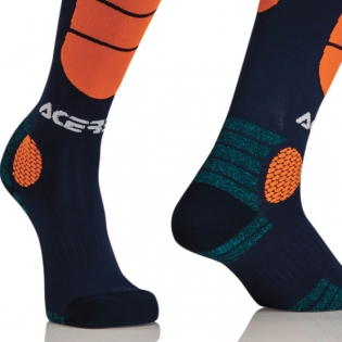 Acerbis Impact Motocross Socks - Blue Orange Image 3