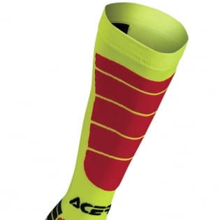 Acerbis Impact Motocross Socks - Yellow Red Image 2