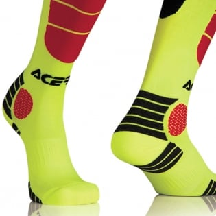 Acerbis Impact Motocross Socks - Yellow Red Image 3
