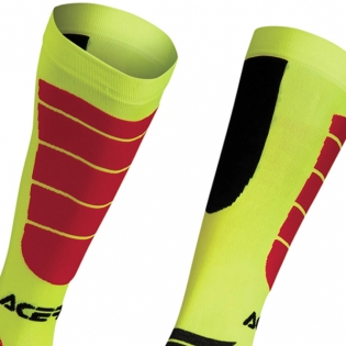 Acerbis Impact Motocross Socks - Yellow Red Image 4