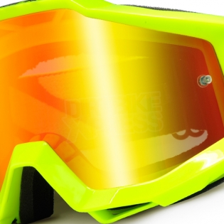 100% Accuri Kids Goggles - Fluo Yellow JR Mirror Lens Image 2