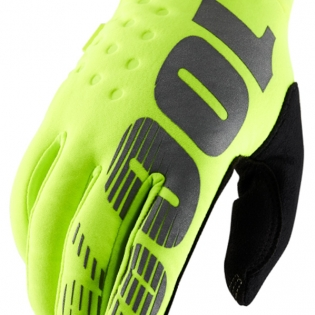 100% Brisker Cold Weather Gloves - Neon Yellow Image 3
