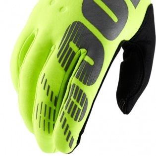 100% Brisker Cold Weather Gloves - Neon Yellow Image 4