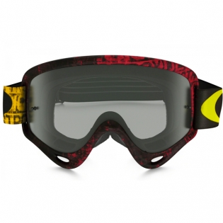 Oakley O Frame Goggles - Distress Tagline Red Yellow Image 2