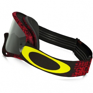 Oakley O Frame Goggles - Distress Tagline Red Yellow Image 3