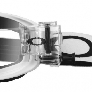 Oakley O Frame 2.0 Roll Off Goggles - Matte White Clear Image 4