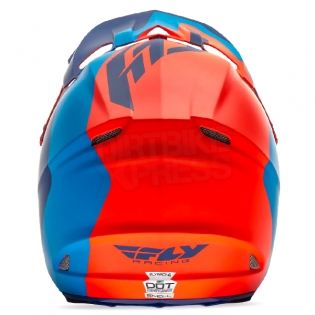 2017 Fly Racing F2 Carbon Helmet - Pure Matt Blue Orange Black Image 3