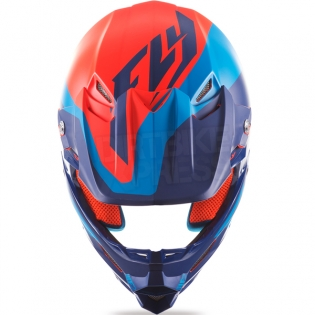 2017 Fly Racing F2 Carbon Helmet - Pure Matt Blue Orange Black Image 4