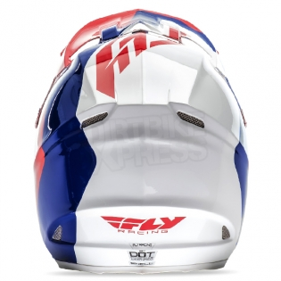 2017 Fly Racing F2 Carbon Helmet - Pure Red Blue White Image 3