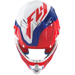 2017 Fly Racing F2 Carbon Helmet - Pure Red Blue White Image 4