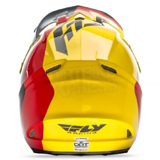 2017 Fly Racing F2 Carbon Helmet - Pure Yellow Black Red Image 2