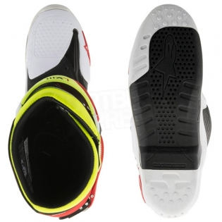 Alpinestars Tech 10 Boots - White Red Neon Yellow Image 3