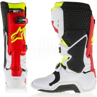 Alpinestars Tech 10 Boots - White Red Neon Yellow Image 4
