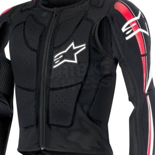 Alpinestars Bionic Plus BNS Protection Jacket - Black White Red Image 2