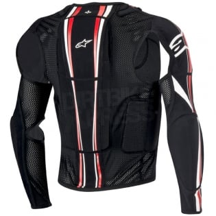 Alpinestars Bionic Plus BNS Protection Jacket - Black White Red Image 3