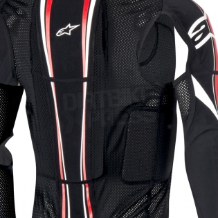 Alpinestars Bionic Plus BNS Protection Jacket - Black White Red Image 4