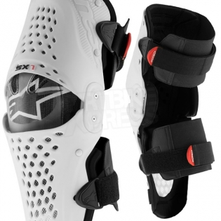 Alpinestars SX1 Knee Guards - White Black Image 3