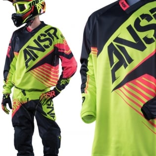 2016 Answer Syncron Jersey - Acid Black Red Image 2