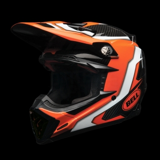 Bell Moto 9 Carbon Flex Helmet - Factory Orange Black Image 2