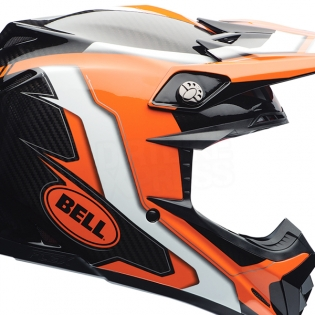 Bell Moto 9 Carbon Flex Helmet - Factory Orange Black Image 3