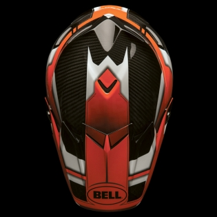Bell Moto 9 Carbon Flex Helmet - Factory Orange Black Image 4