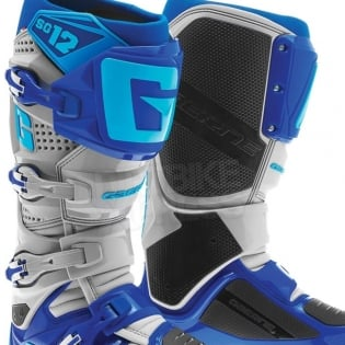 Gaerne SG12 Motocross Boots - Cyan Blue Grey Image 2