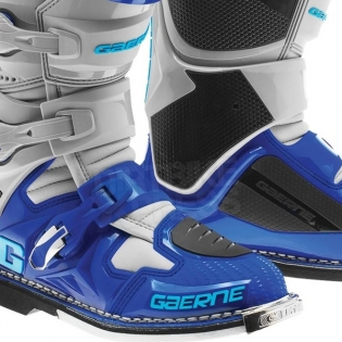 Gaerne SG12 Motocross Boots - Cyan Blue Grey Image 4