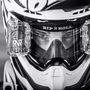 Rip n Roll Colossus WVS Roll Off Goggles - White Image 3
