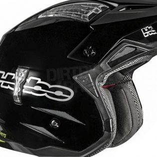Hebo Zone 4 Fibre Trials Helmet - Mono Black Image 3