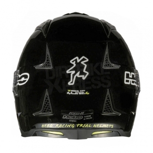 Hebo Zone 4 Fibre Trials Helmet - Mono Black Image 4