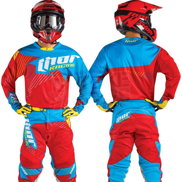 SALE! Red Thor Core Motocross MX Enduro Jersey Hux Limited Edition Cyan