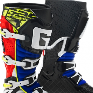 Gaerne G React Boots - Black Red Yellow Blue Image 2