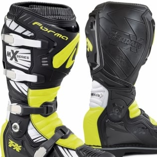 Forma Terrain TX 2.0 Motocross Boots - Black White Fluo Yellow Image 2