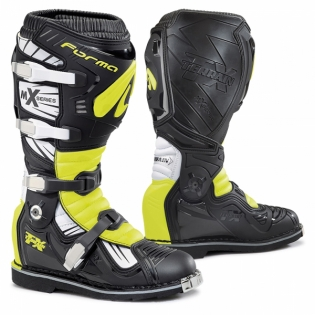 Forma Terrain TX 2.0 Motocross Boots - Black White Fluo Yellow Image 3