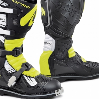 Forma Terrain TX 2.0 Motocross Boots - Black White Fluo Yellow Image 4