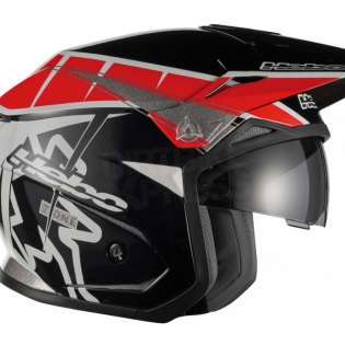 Hebo Zone 5 Polycarb Trials Helmet - T-One Red Black Image 3