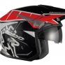 Hebo Zone 5 Polycarb Trials Helmet - T-One Red Black