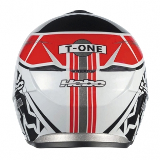 Hebo Zone 5 Polycarb Trials Helmet - T-One Red Black Image 4