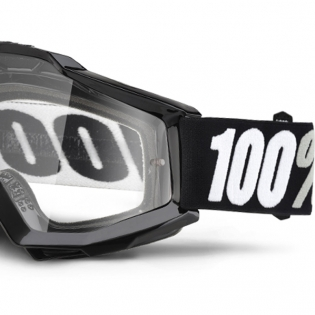 100% Accuri Goggles - Tornado Gloss Clear Lens Image 4