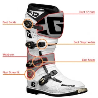 Gaerne SG12 Motocross Boot Spares - Long Straps Image 2