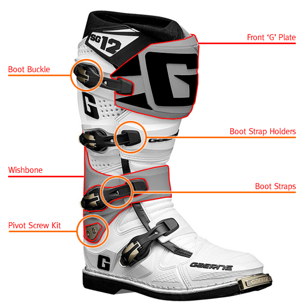 Gaerne Sg12 Motocross Boot Spares Outer Boot Sole Set