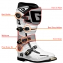 Gaerne SG12 Motocross Boot Spares - Outer Boot Sole Set