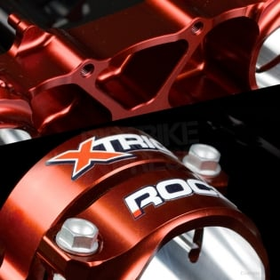 XTrig ROCS Tech Triple Clamp Set Honda - Red Image 4