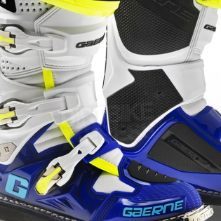 Gaerne SG12 Motocross Boots - Limited Edition Blue White Yellow Image 2