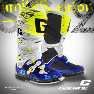 Gaerne SG12 Motocross Boots - Limited Edition Blue White Yellow Image 3