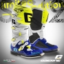 Gaerne SG12 Motocross Boots - Limited Edition Blue White Yellow